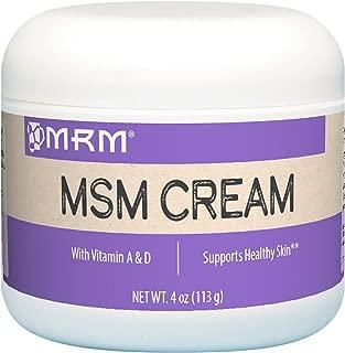 MRM,  MSM Cream, Net Wt. 4 Oz.