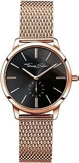 thomas sabo black and rose gold watch