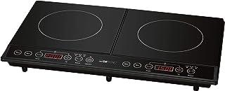 Clatronic DKI Rotule de cuisson électriques/Verre Céramique/60cm/technique de induction/Eco-Save/Noir