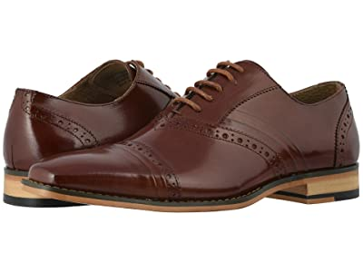 Stacy Adams Talford Cap Toe Oxford (Cognac) Men