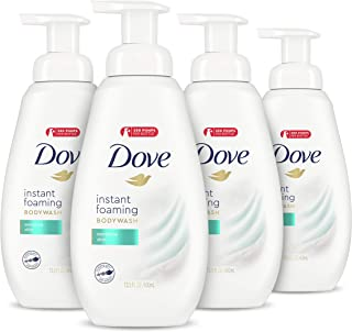 Dove Instant Foaming Body Wash for Softer and Smoother Skin Sensitive Skin Effectively Washes Away Bacteria While Nourishi...