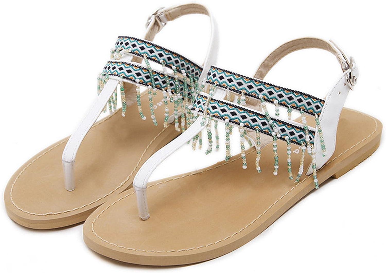 Mandaartins Women Sandals Flats Bohemia Beach Sandals