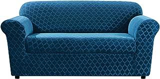 SureFit Stretch Grand Marrakesh 2-Piece - Sofa Slipcover - Nile Blue (SF45878) (Renewed)