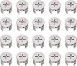 20 Stks Meubels Connecter Cam Lock Fittings 15mm x 12mm voor Kabinet Lade Dressoir en Garderobe Meubelpaneel Aansluiten