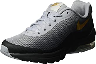 Nike Women's Air Max Invigor Print Running Shoe Black/Metallic Gold 6.5