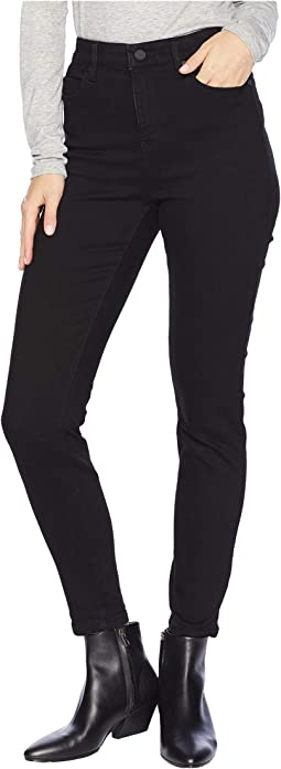 Bridget High-Waist Ankle in Silky Soft Stretch Denim in Black Rinse
