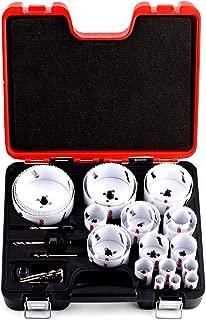 Bi-Metal Hole Saw Kit,30-Piece All Purpose Combination,Sizes Range:3/4
