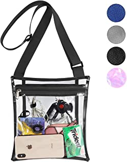 Clear Purse Stadium Approved Crossbody Bag with Inner Pocket for Games