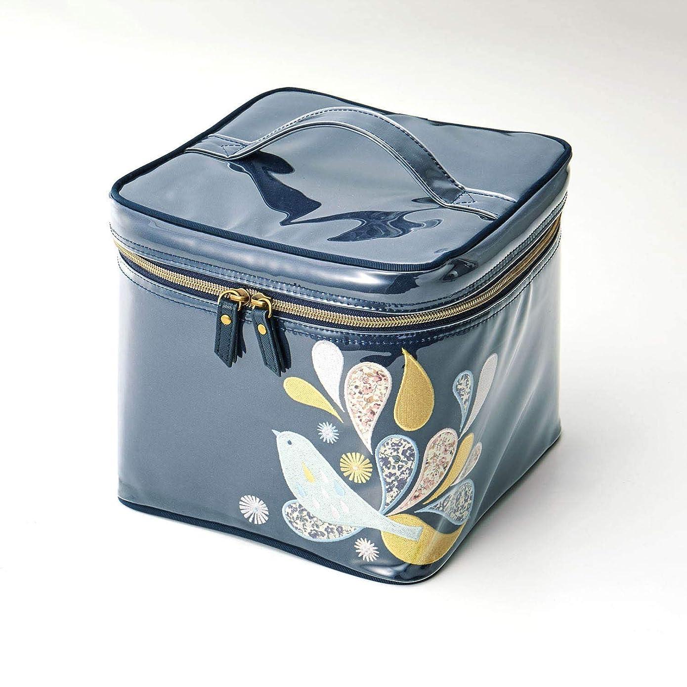 予約怪しい動作[ベルメゾン] たっぷり 入る 刺繍 & アップリケ の バニティ ケース コトリ タイプ:コトリ
