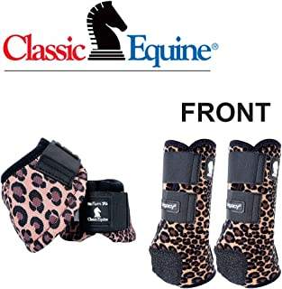 Classic Equine Med Lightweight Legacy2 Front Dyno Bell Boots Pair Cheetah