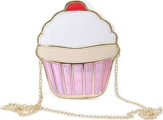 LUI SUI Borsa a tracolla per ragazze in pelle PU Cupcake Gelato Popcorn Carina scatola portafogli Borsa a tracolla Piccola...