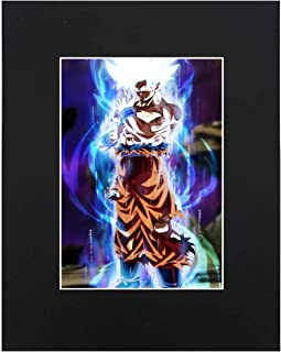 Dragon Ball Super Z Son Goku Ultra Instinct Japanese media Anime Cartoon Dope 8x10 Black Matted Art Artworks Print Paintings Printed Picture Photograph Poster Gift Wall Decor Display USA Seller