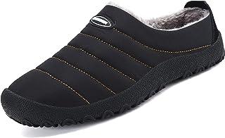 Zapatillas de Estar por Casa Mujer Hombre, Invierno Zapatos de Casa con Forro de Piel - Cálidas y Cómodas - con Suela Anti...