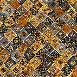 Robert Kaufman Gustav Klimt Gold Diagonal Tile