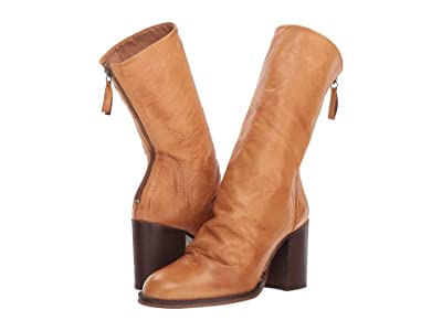 Free People Elle Block Heel Boot (Taupe) Women
