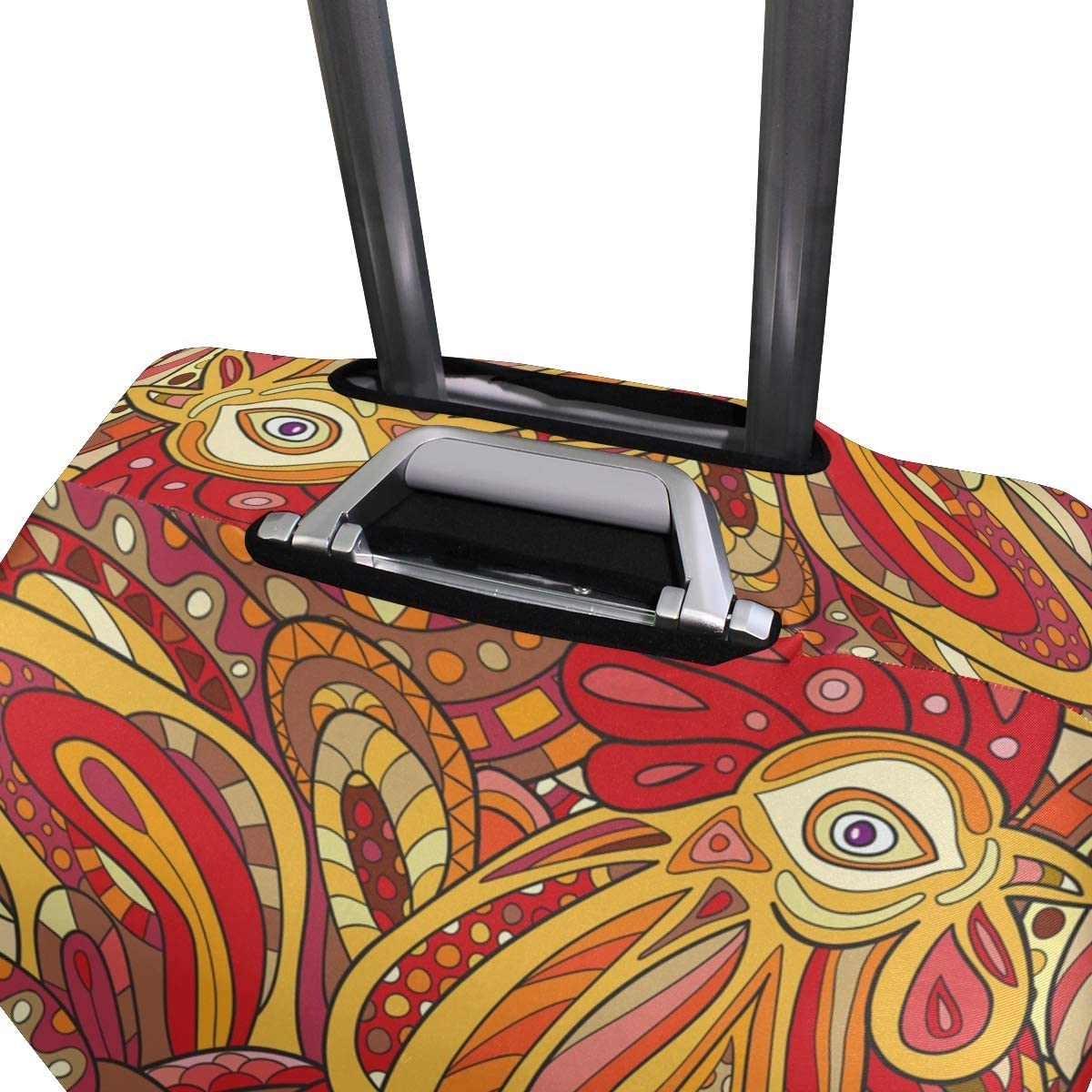 Trendy Luggage Cover Elastic Spandex Dust proof Case,Seamless Pattern With Bouquets Fashion Printed Suitcase Protector Washable Baggage Covers XL 29-32 in