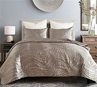 YOUSA Fashion Bedspread Coverlet Set Comforter Bedding Collection Quilt Sets (Queen,Gray)
