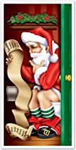 Beistle 1-Pack Santa Restroom Door Cover, 30-Inch by 5-Feet