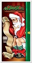Beistle 1-Pack Santa Restroom Door Cover, 30-Inch by 5-Feet