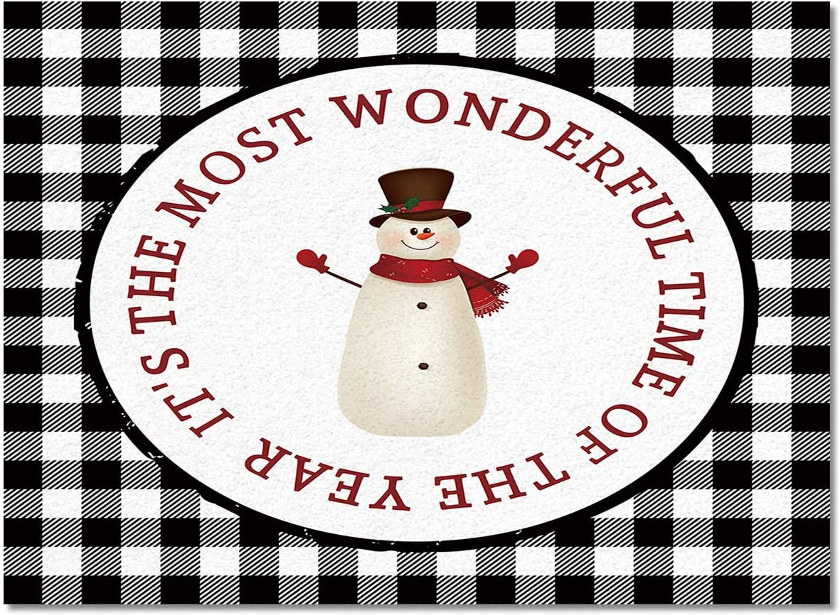Indoor Area Rug Kitchen Bedroom Cute Mats Snowma Christmas Floor Minneapolis Ranking TOP1 Mall
