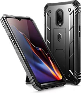OnePlus 6T Rugged Case, Poetic Revolution [360 Degree Protection] Full-Body Rugged Heavy Duty Case with [Built-in-Screen Protector] for OnePlus 6T (2018) - Black