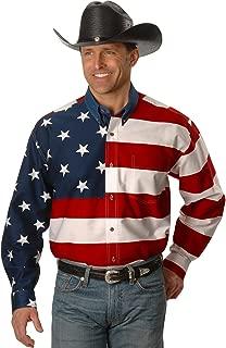 Roper Men's Stars & Stripes Pieced Flag Shirt L/S