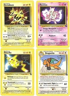 Pokemon Movie Promo Card Set of 4 Electabuzz, Dragonite, Pikachu, and Mewtwo
