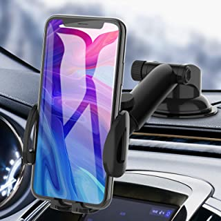 Car Phone Holder, bokilino Car Phone Mount - Cell Phone Holder for Car Dashboard Windshield, Sturdy Cup Holder Phone Mount...