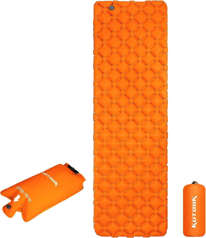 KUTOOK Camping low-pricing Sleeping Pad Inflatable L Ultralight Mat Ranking TOP9