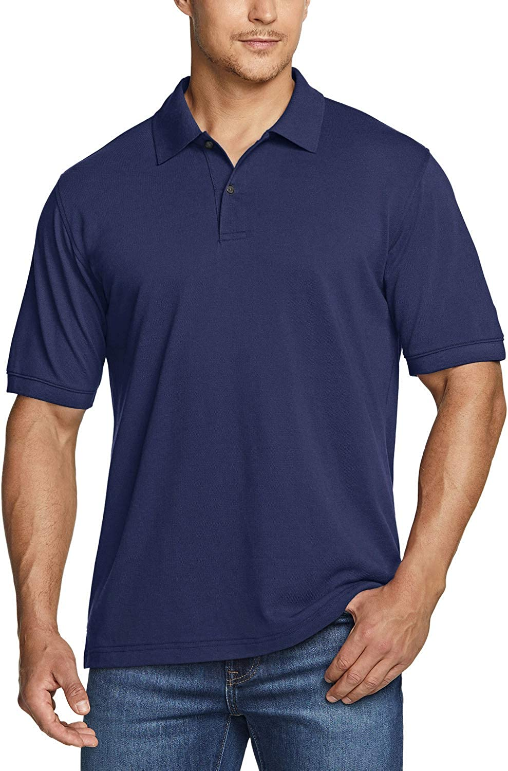 TSLA 1 or 2 Pack Men's Cotton Shirts Sacramento Mall Sho Fit Year-end annual account Pique Polo Classic