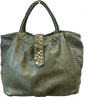BZNA Bag Livia grün vintage Italy Designer Business Damen Handtasche Ledertasche Schultertasche Tasche Leder Shopper Neu
