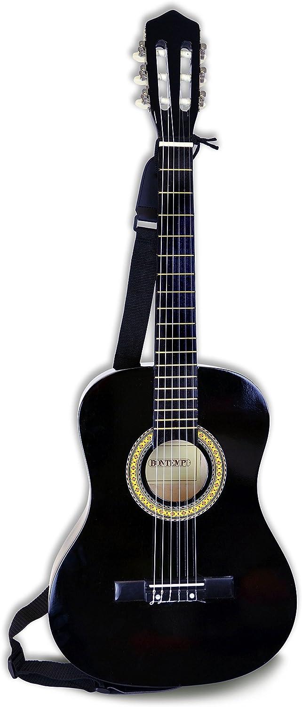 Bontempi 22 9210 Holz Gitarre, Schwarz, 92 cm