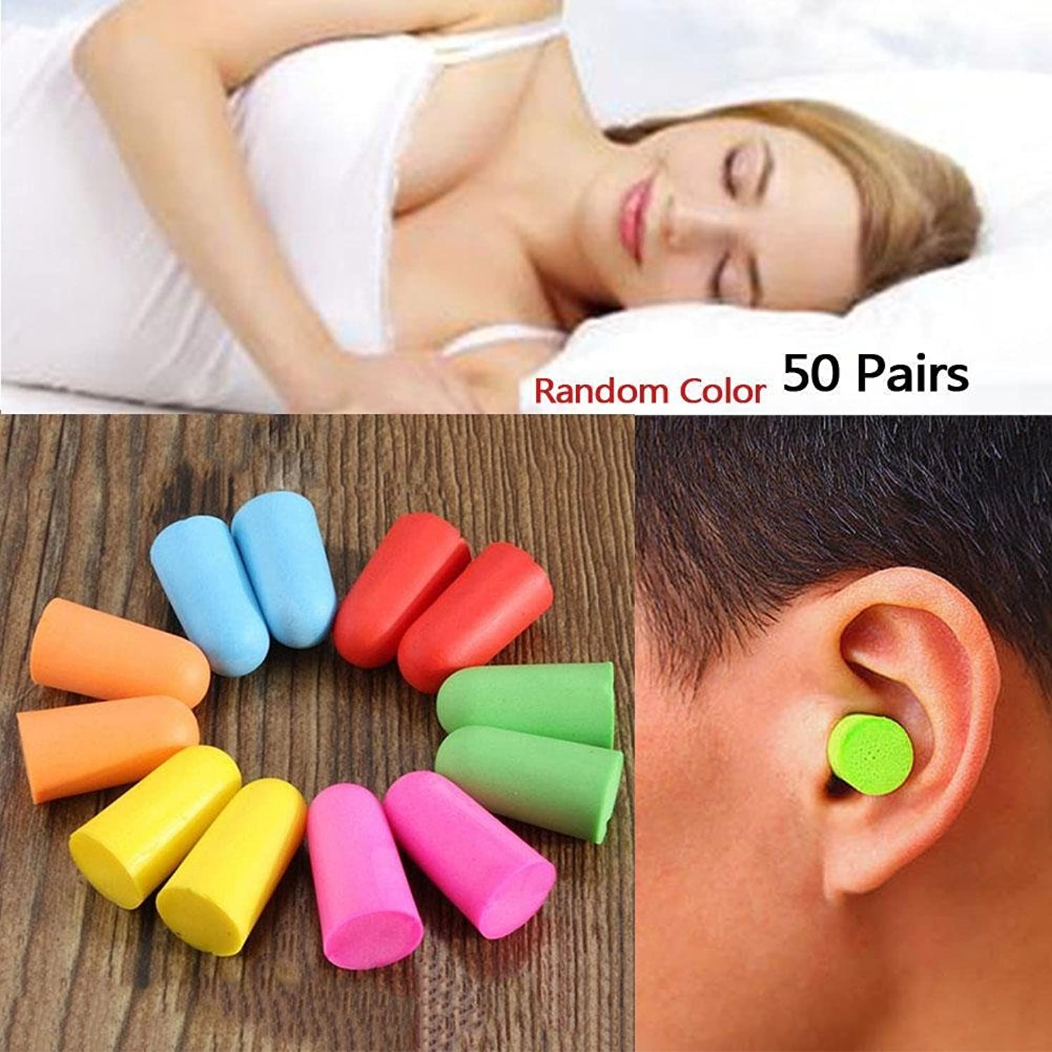 海嶺インフルエンザちなみにNOTE 50ペアソフトクラシック泡耳栓旅行睡眠騒音低減防止耳栓遮音耳保護