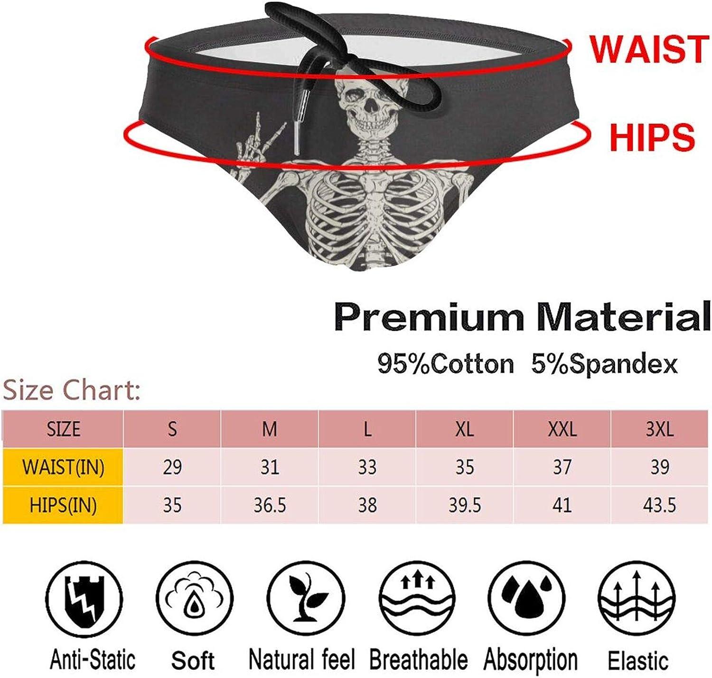 N\ A Funny Skull Body Day of The Dead Mens Swimsuit Bikni Briefs W//Adjustable Drawstring Swimwear Boys