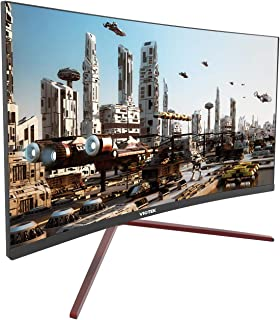 VIOTEK GN27CB 27-inch 144Hz Curved Gaming Monitor - 1080p VA Panels, GamePlus FreeSync FPS/RTS - HDMI DP 1.2 - Xbox One/PS4 Ready