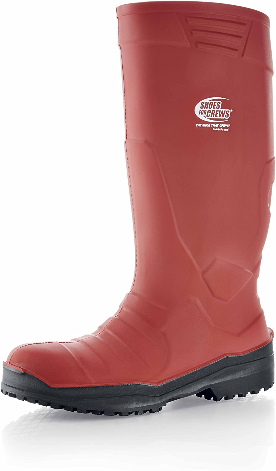 shoes for Crews PU Sentinel Unisex Wellingtons, 12 UK Size, Red