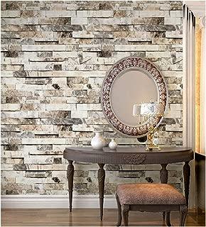 HaokHome 91301 Faux 3d Brick Wallpaper Textured Brick Wallpaper Roll Beige/Grey/Brown 20.8