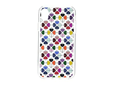 Kate Spade New York Foil Spade Phone Case for iPhone XR (Clear Multi) Cell Phone Case