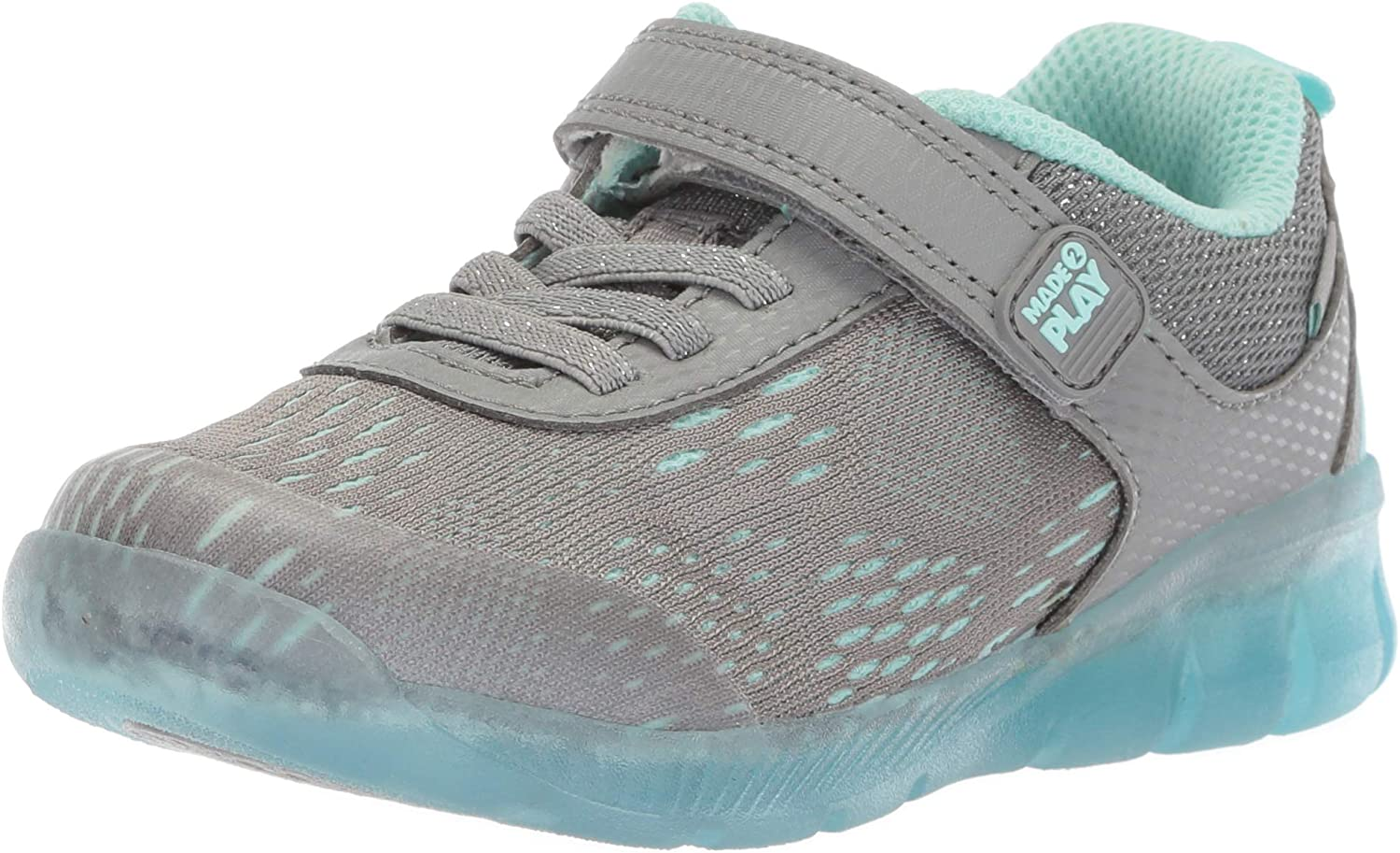 Stride Rite Girls Made2Play Lighted Free Discount mail order shipping anywhere in the nation NEO Blue Grey Sneaker 2 Li