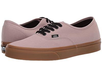 Vans Authentictm ((Gum) Shadow Gray/Prune) Skate Shoes