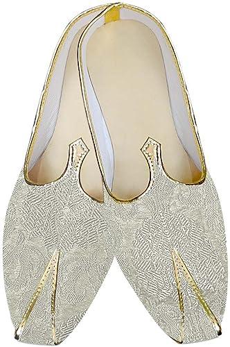 INMONARCH Herren Creme Hochzeit Schuhe Luxus MJ012956