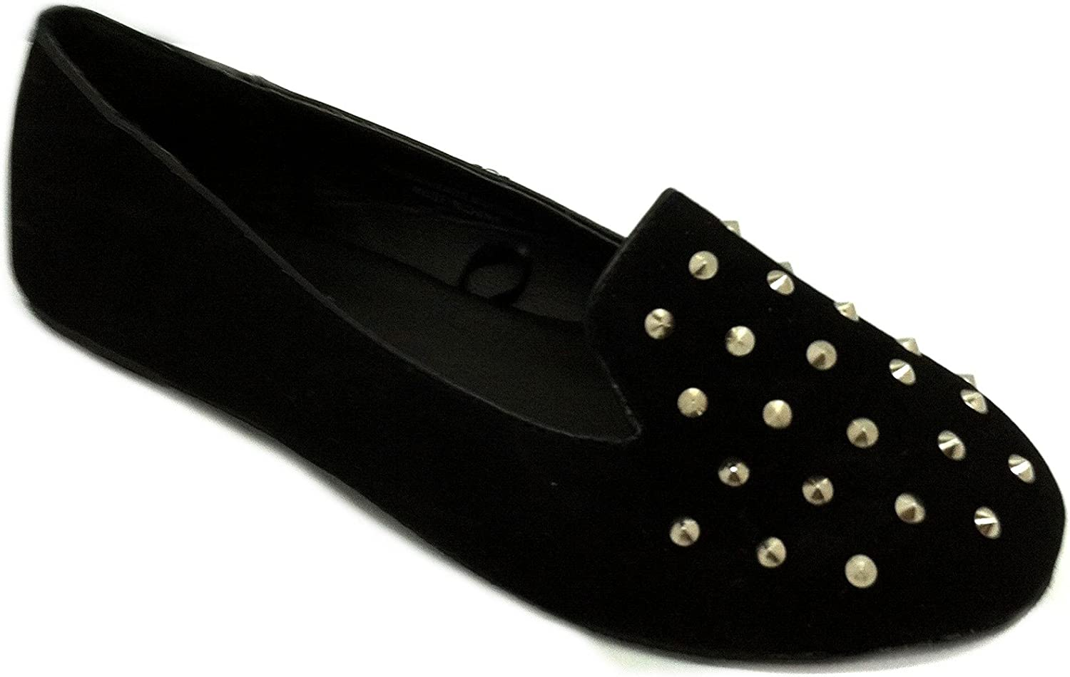 Womens Faux Studded Loafer Smoking shoes Flats 3 colors