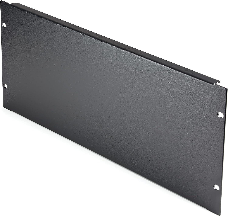 StarTech.com 4U Blank Panel for 19 inch Rack - Rack Mount Blanking Panel for Server/Network Racks, Enclosures & Cabinets - 4RU Rack Filler Panel/Spacer/Plates - Solid Panel - Steel (RKPNL4U)