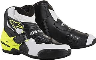 Alpinestars Botas de moto SMX-1 R, negro/blanco/amarillo, talla 45