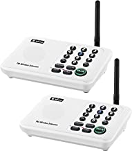 Wuloo Intercoms Wireless for Home 5280 Feet Range 10 Channel 3 Code, Wireless Intercom..
