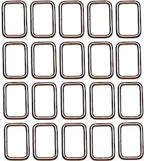 Shapenty 1Inch/25mm Rectangle Bag Purse Snap Hook Metal Loop Rings Webbing Belts Buckle for Handbag Strap DIY Accessories ...