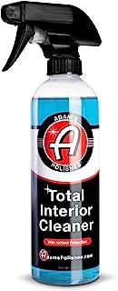 Adam's Total Interior Cleaner & Protectant (16oz) - Car Interior Quick Detailer & SiO2 Protection - Ceramic Infused UV Protection, Anti-Static, OEM Finish - For Leather, Vinyl, Plastics, Glass & More