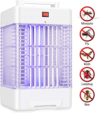 Electric Bug Zapper Indoor, Nontoxic Powerful Fly Trap Insect Killer Lamp with 2 UV Light Bulbs, Cover Up to 1 Acre