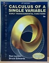 Calculus of a Single Variable: Early Transcendental Functions (AP* Edition), 6e