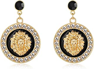 Basketball Wives Love and Hip Hop Celebrity Inspired Gold Lion Head Stud Earrings